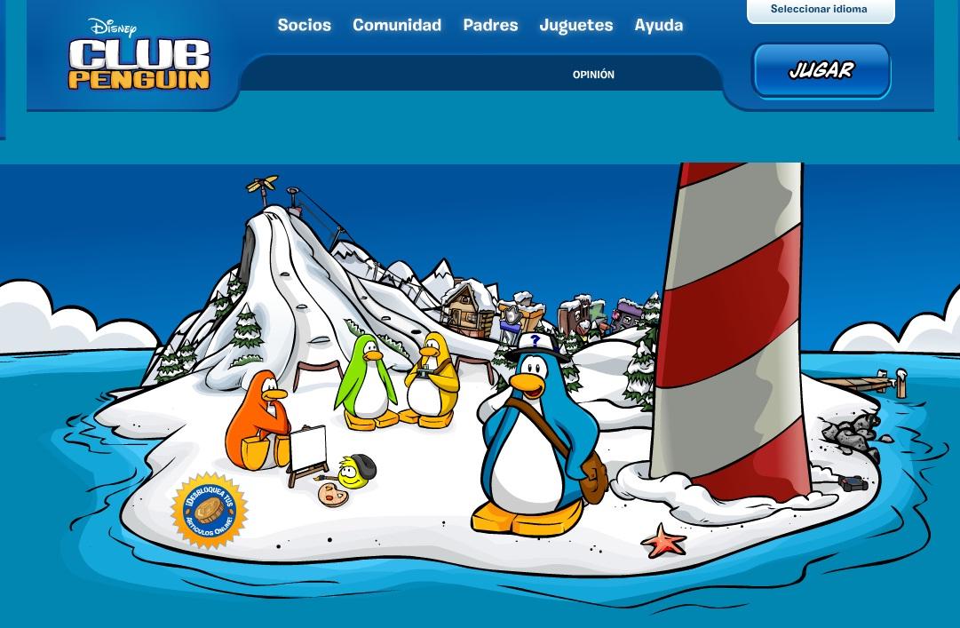 Club Penguin juego de pinginos